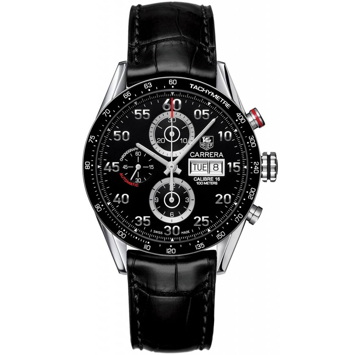 defd6cf0e960 TAG HEUER GRAND CARRERA CALIBRE 17 CHRONOGRAPH WATCH BLACK WITH LEATHER  BLACK BELT. SKU  181. Roll ...
