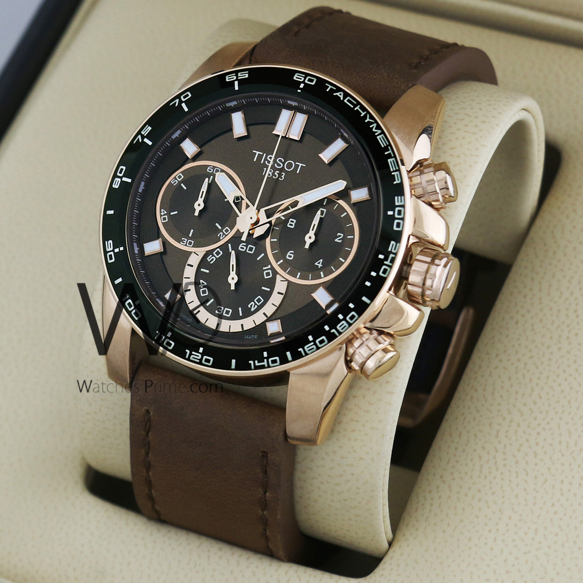 Tissot 1853 Chronograph Watch Brown With Leather Brown