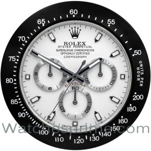 Rolex Wall Clock Daytona white Dial Black Bezel white marker