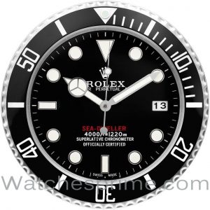 Rolex Wall Clock Sea-Dweller 50th Anniversary Black Dial Black Bezel