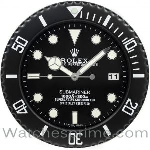 Rolex Wall Clock Submariner Black Dial Full Black Bezel