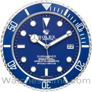 Rolex Wall Clock Submariner Blue Dial Blue Bezel