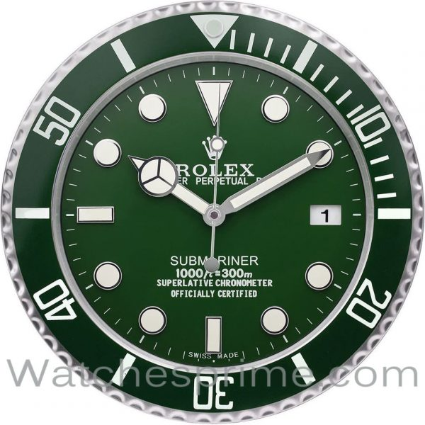 Rolex Wall Clock Submariner Green Dial Green Bezel