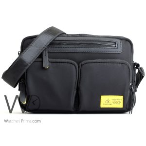 crossbody Calvin Klein black bag men ck cease to struggle and you cease to live just the way you are
