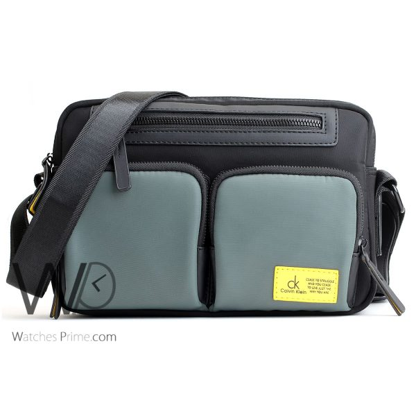 crossbody Calvin Klein black green bag men ck cease to struggle and you cease to live just the way you are