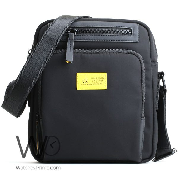 messenger Calvin Klein Black bag men ck cease to struggle and you cease to live just the way you are