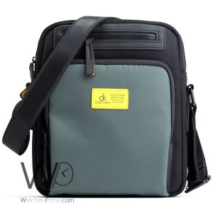 messenger Calvin Klein Black green bag men ck cease to struggle and you cease to live just the way you are