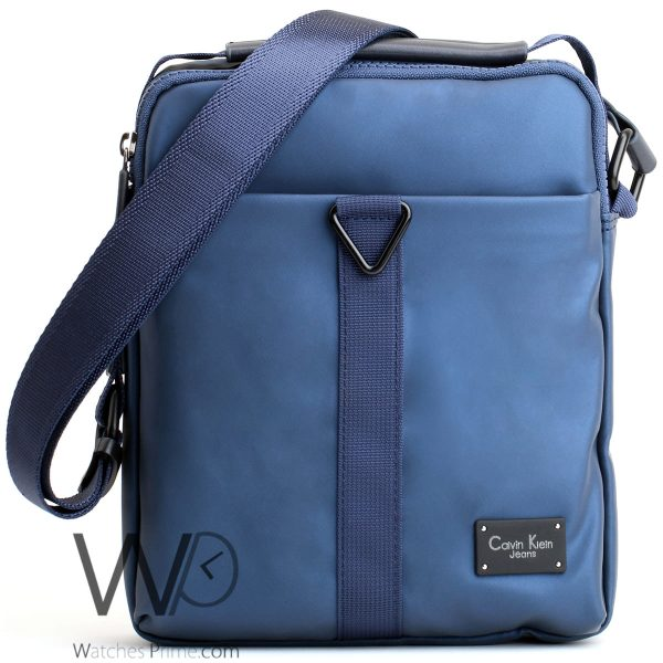 messenger Calvin Klein jeans blue bag for men ck