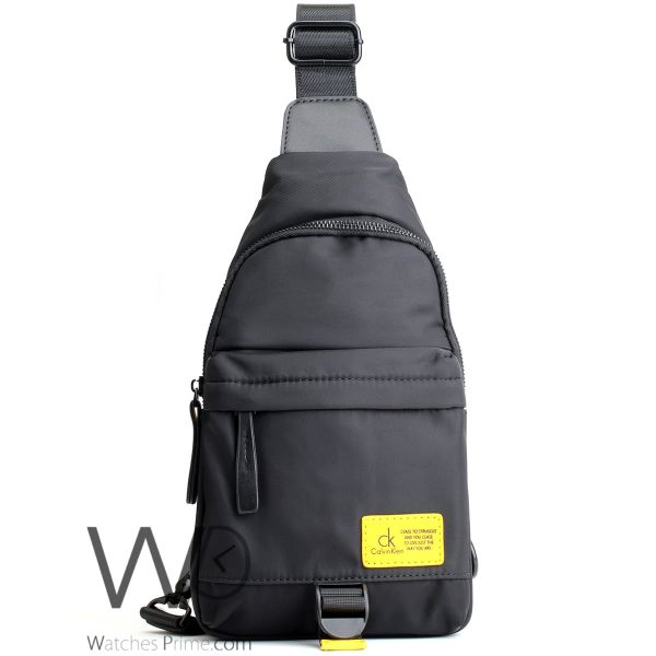 shoulder Calvin-Klein black bag men ck cease to struggle and you cease to live just the way you are