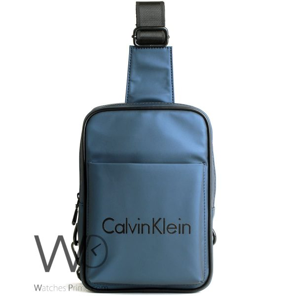 shoulder Calvin Klein blue bag for men ck