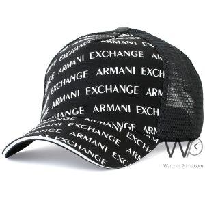 baseball-hat-black-armani-exchange-cap-men