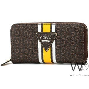 brown-guess-leather-wallet-for-women